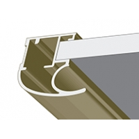 Лимба светлая структурная, профиль вертикальный модерн KORALL. Алюминиевая система дверей-купе ABSOLUT DOORS SYSTEM
