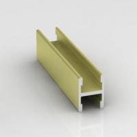 Вишня структурная, гнущийся соединительный профиль без винта Стандарт. Алюминиевая система дверей-купе ABSOLUT DOORS SYSTEM