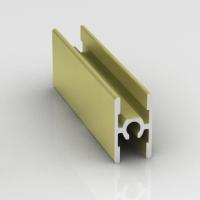 Золото матовое, соединительный профиль с винтом анодированный. Алюминиевая система дверей-купе ABSOLUT DOORS SYSTEM