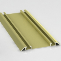 Золото Шанжан, направляющая нижняя двойная Премиум. Алюминиевая система дверей-купе ABSOLUT DOORS SYSTEM