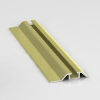 Золото полированное, направляющая нижняя одинарная Премиум. Алюминиевая система дверей-купе ABSOLUT DOORS SYSTEM