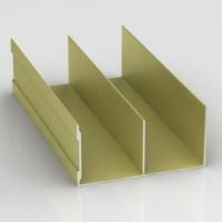 Золото Шанжан, направляющая верхняя двойная Премиум. Алюминиевая система дверей-купе ABSOLUT DOORS SYSTEM