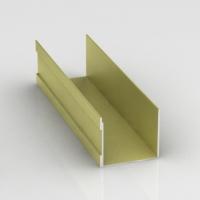 Золотой шелк, направляющая верхняя одинарная Шёлк. Алюминиевая система дверей-купе ABSOLUT DOORS SYSTEM