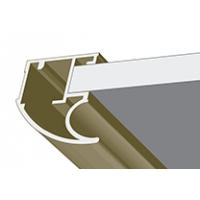 Шампань матовая, профиль вертикальный анодированный LAGUNA. Алюминиевая система дверей-купе ABSOLUT DOORS SYSTEM