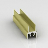 Лимба светлая структурная, верхний горизонтальный профиль Модерн. Алюминиевая система дверей-купе ABSOLUT DOORS SYSTEM