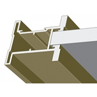 Дуб кремона шампань, профиль вертикальный Стандарт QUADRO. Алюминиевая система дверей-купе ABSOLUT DOORS SYSTEM