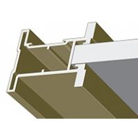 Вишня структурная, профиль вертикальный Стандарт QUADRO. Алюминиевая система дверей-купе ABSOLUT DOORS SYSTEM