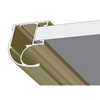 Дуб кремона шампань, профиль вертикальный Стандарт CLASSIC асимметричный. Алюминиевая система дверей-купе ABSOLUT DOORS SYSTEM