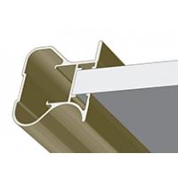 Махагон структурный, профиль вертикальный стандарт CLASSIC симметричный. Алюминиевая система дверей-купе ABSOLUT DOORS SYSTEM