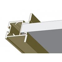Шампань матовая, профиль вертикальный Анодированный METRO. Алюминиевая система дверей-купе ABSOLUT DOORS SYSTEM