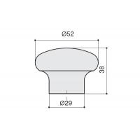 a419.VE35ROS Ручка-кнопка, отделка розовая
