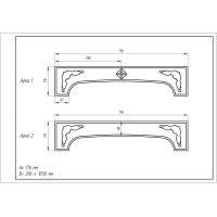 Фрезеровка 01 Милано, арки МДФ в пленке ПВХ, любые размеры