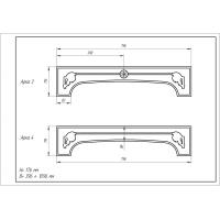 Фрезеровка 03 Британская, арки МДФ в пленке ПВХ, любые размеры