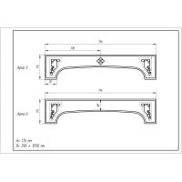 Фрезеровка 06 Романская, арки МДФ в пленке ПВХ, любые размеры