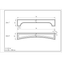 Фрезеровка 08 Эллипс, арки МДФ в пленке ПВХ, любые размеры