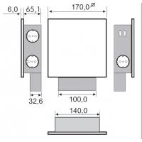 Блок розеток POWER QUAD (3 розетки + 2 USB), защитный экран - нержавеющая сталь