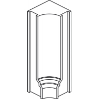 Уголок внутренний для цоколя Гальяно массив Италия
