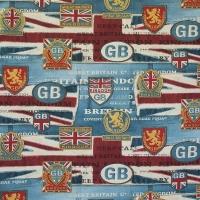 Мебельная ткань скотчгард BRITANNIA Flag (Британия флаг)