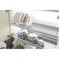 Посудосушитель для тарелок, регулируемый по глубине с пазом под заднюю стенку, в шкаф 600 мм, ДСП 18 мм, хром