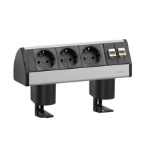 Горизонтальный блок EVOline Dock Small, 3 розетки+2RJ 45:RJ45 на опорах