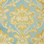 Мебельная ткань жаккард CHATEAU Monogramme Azur (Шато Монограмм Азур)