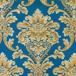 Мебельная ткань жаккард CHATEAU Monogramme Cobalt (Шато Монограмм Кобалт)
