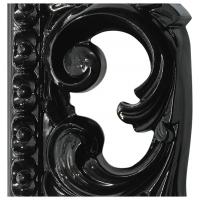 Зеркало ППУ прямоугольное R1076PA 750x950 черный глянец (эмаль)