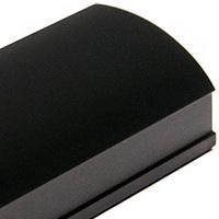 Черный матовый, профиль вертикальный Анодированный CLASSIC асимметричный. Алюминиевая система дверей-купе ABSOLUT DOORS SYSTEM