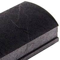 Черный шелк, верхний горизонтальный профиль Шёлк. Алюминиевая система дверей-купе ABSOLUT DOORS SYSTEM