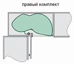 """Комплект """"Ле манс 2 ТИТАН - 500, с доводчиками, 2 полки АРЕНА"""" правый, серый"""