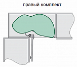 """Комплект """"Ле манс 2 ТИТАН - 600, с доводчиками, 2 полки АРЕНА"""" правый, серый"""