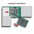 Комплект «Волшебный уголок Н 525 мм, Софт Стоп», 4 сетки, правый