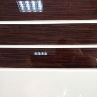 Фасады МДФ 19мм комбинированные эмаль и шпон 3 полосы, покраска по RAL и WOODcolor, шпон Woodstok
