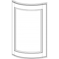 Стекло №2 Аризона/Римини под полукруглый (радиусный) фасад 956х315 CV