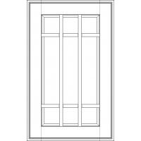 "Фасад под стекло с обрешеткой Милан Джинс 357х597 тип ""А"" массив Италия"