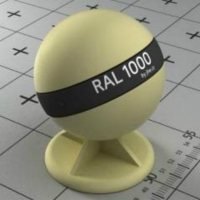 RAL 1000  краска для фасадов МДФ зелёно-бежевая