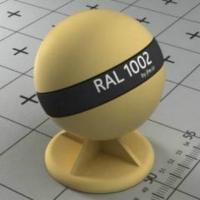 RAL 1002  краска для фасадов МДФ песочно-желтая