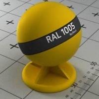 RAL 1005 краска для фасадов МДФ медово-желтая