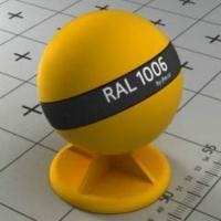 RAL 1006 краска для фасад МДФ кукурузно-желтая