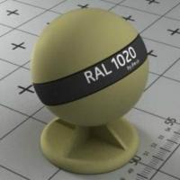 RAL 1020 краска для фасадов МДФ оливково-желтая