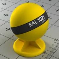 RAL 1021 краска для фасадов МДФ рапсово-желтая
