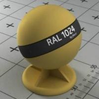 RAL 1024 краска для фасадов МДФ бледно-коричнево-желтая