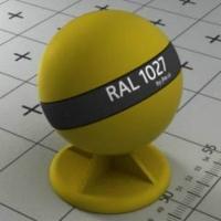 RAL 1027 краска для фасадов МДФ цвет карри