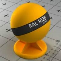 RAL 1028 краска для фасадов МДФ цвет дыни