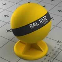 RAL 1032 краска для фасадов МДФ цвет ракитно-желтый