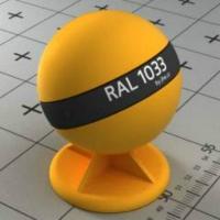 RAL 1033 краска для фасадов МДФ цвет георгиново-желтый