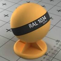 RAL 1034 краска для фасадов МДФ цвет пастельно-желтый