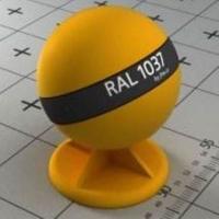 RAL 1037 краска для фасадов МДФ цвет солнечно-желтый