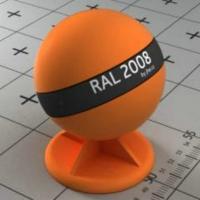 RAL 2008 краска для фасадов МДФ яркая красно-оранжевая