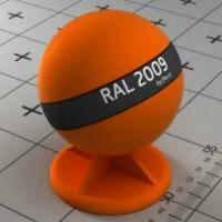 RAL 2009 краска для фасадов МДФ яркая дорожно-оранжевая